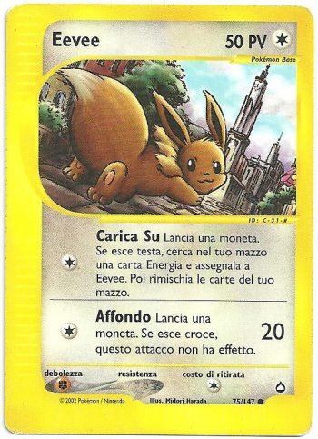 Eevee Aquapolis 75147 Comune Carte Pokémon