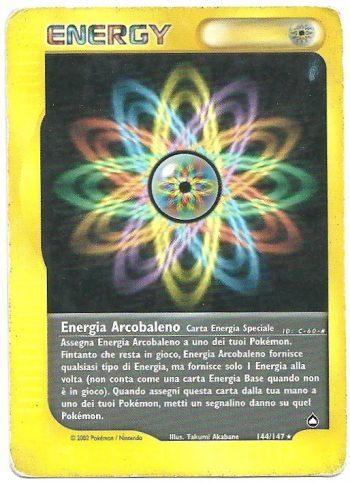 Energia Arcobaleno Aquapolis 144147 Rara Carte Pokémon