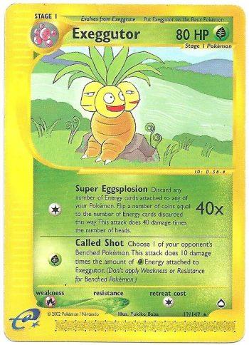Exeggutor Aquapolis 12147 Rara Carte Pokémon