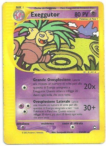 Exeggutor Aquapolis 13147 Rara Carte Pokémon