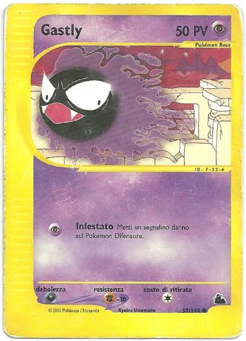 Gastly Skyridge 57144 Comune Carte Pokémon