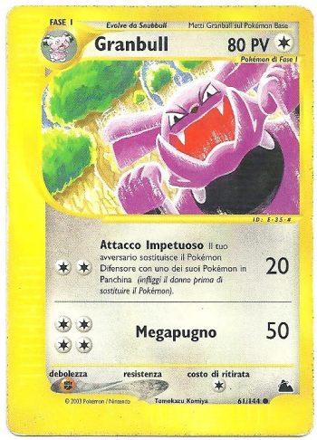 Granbull Skyridge 61144 Comune Carte Pokémon