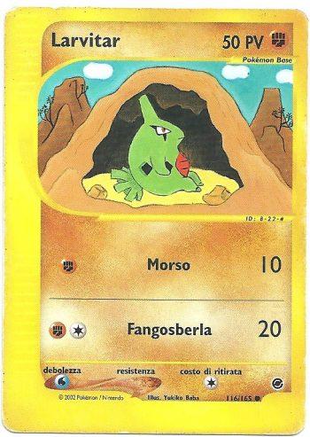 Larvitar Expedition 116165 Comune Carte Pokémon