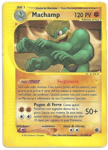 Machamp Expedition 51160 Rara Carte Pokémon