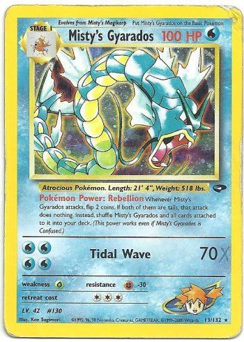 Mistys Gyarados Gym Challenge 13132 Rara Holo Carte Pokémon