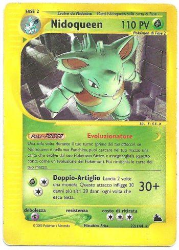 Nidoqueen Skyridge 22144 Rara Carte Pokémon