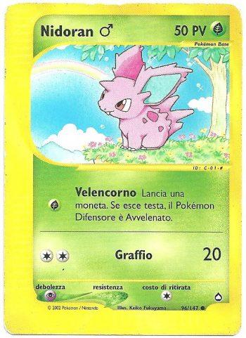 Nidoran ♂ Aquapolis 96147 Comune Carte Pokémon