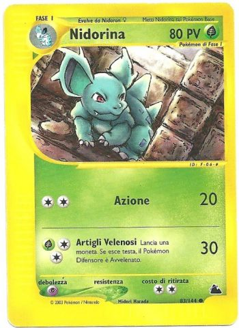Nidorina Skyridge 83144 Comune Carte Pokémon