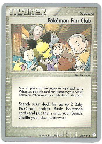 Pokémon Fan Club Aquapolis 130147 Non Comune Carte Pokémon