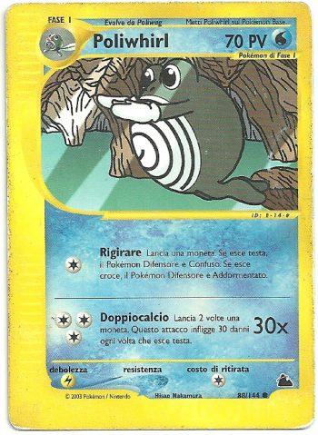 Poliwhirl Skyridge 88144 Comune Carte Pokémon