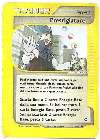 Prestigiatore Aquapolis 126147 Non Comune Carte Pokémon