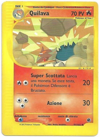 Quilava Expedition 91163 Non Comune Carte Pokémon