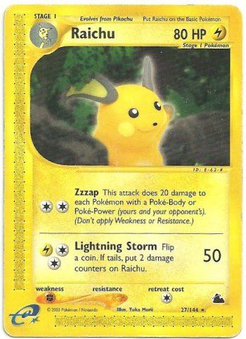 Raichu Skyridge 27144 Rara Carte Pokémon