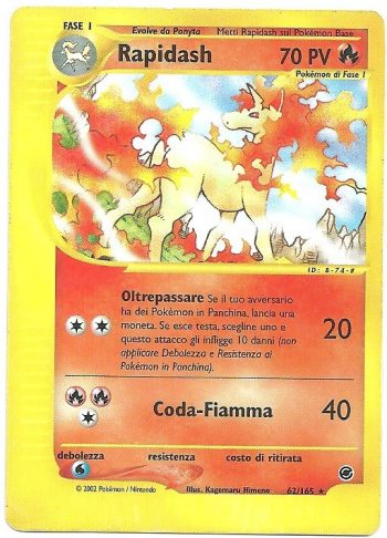 Rapidash Expedition 62165 Rara Carte Pokémon
