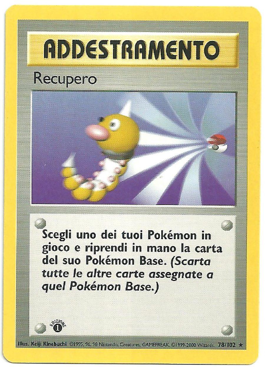 Recupero Set Base 78102 1st ed Rara Carte Pokémon