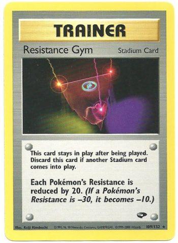 Resistance Gym Gym Challenge 109132 Rara Carte Pokémon