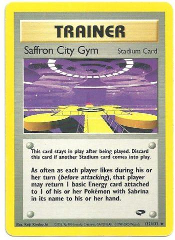 Saffron City Gym Gym Challenge 122132 Non Comune Carte Pokémon