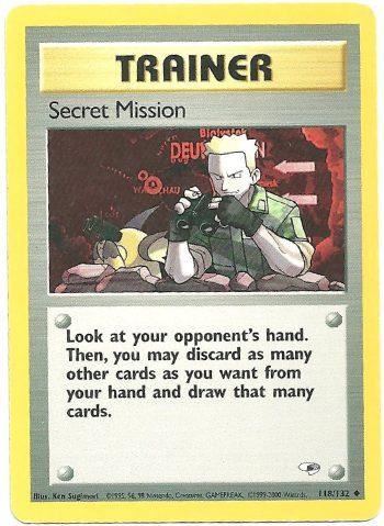 Secret Mission Gym Heroes 118133 Non Comune Carte Pokémon