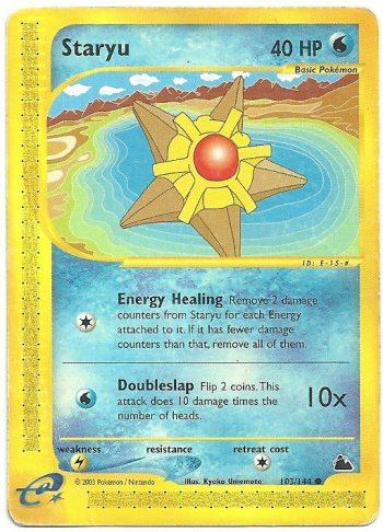 Staryu Skyridge 104144 Comune Carte Pokémon