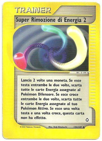 Super Rimozione di Energia 2 Aquapolis 134147 Non Comune Carte Pokémon