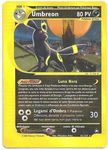 Umbreon Aquapolis 41147 Rara Carte Pokémon