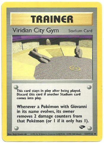 Viridian City Gym Gym Challenge 123132 Non Comune Carte Pokémon