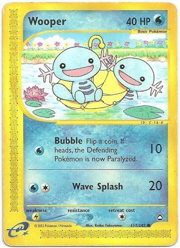 Wooper Aquapolis 117147 Comune Carte Pokémon