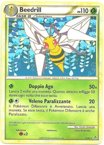 Beedrill-Forze-Scatenate-1295-Rara-Carte-Pokémon
