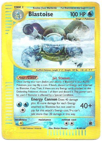 Blastoise-Expedition-4165-Rara-Holo-Carte-Pokémon