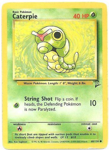 Caterpie Set Base 2 68130 Comune Carte Pokémon