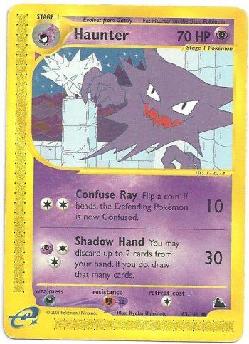 Haunter Skyridge 63144 Comune Carte Pokémon