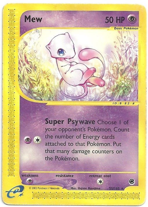 Mew Expedition 55165 Rara Carte Pokémon