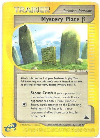Piatto Misterioso beta Skyridge 134144 Non Comune Carte Pokémon