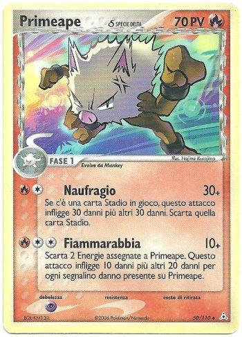 Primeape-Delta-Species-EX-Fantasmi-di-Holon-50110-Non-Comune-Carte-Pokémon