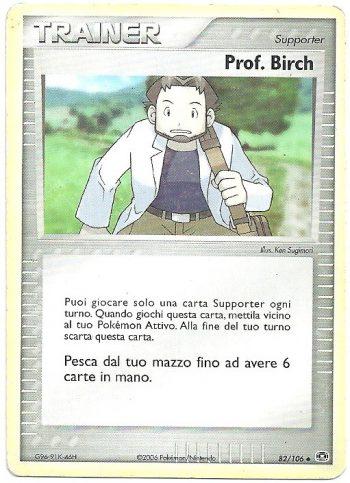 Prof-Birch-EX-Smeraldo-82106-Non-Comune-Carte-Pokémon