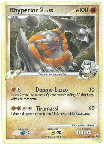 Rhyperior-4-Lv-55-L-Ascesa-dei-Rivali-32111-Rara-Holo-Carte-Pokémon
