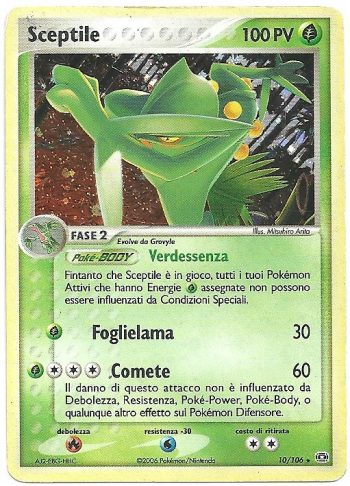 Sceptile-EX-Smeraldo-10106-Rara-Holo-Carte-Pokémon