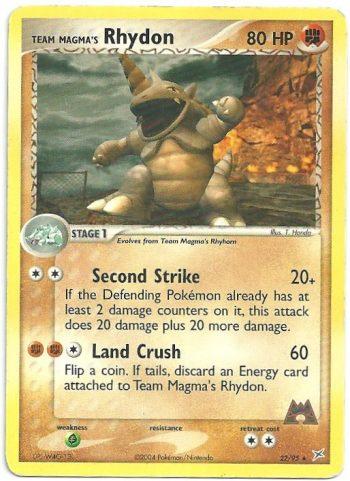 Team Magma Rhydon EX Team Magma vs Team Idro 2295 Rara Carte Pokémon