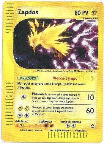 Zapdos-Aquapolis-H32H32-Rara-Holo-Carte-Pokémon