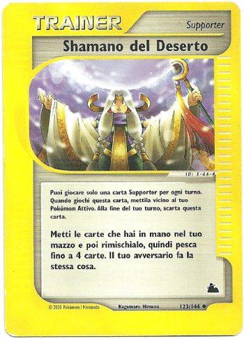 Shamano-del-Deserto-Skyridge-123144-Non-Comune-Carte-Pokémon