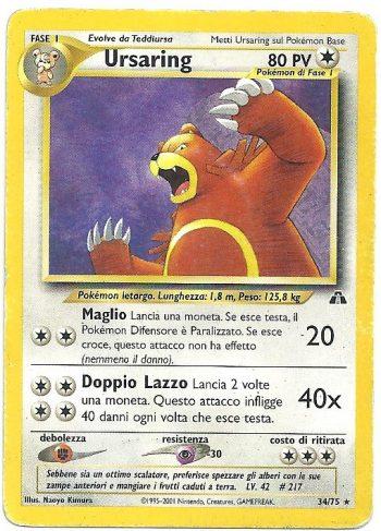 Ursaring-Neo-Discovery-3475-Rara-Carte-Pokémon