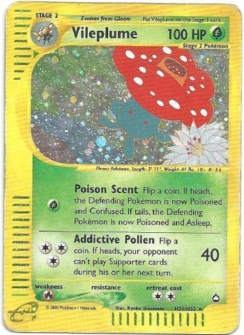 Vileplume-Aquapolis-H31147-Rara-Holo-Carte-Pokémon